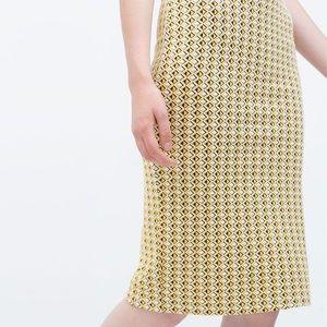 Zara body-con tube skirt